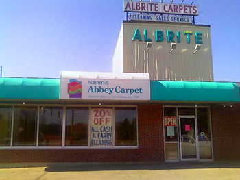 Come visit us here at Albrite Carpets, An Abbey Carpet & Floor Showroom.